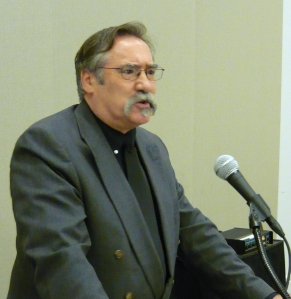 Robert John Andrews accepting his award for Best First Book