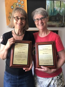 Jane and me with awards